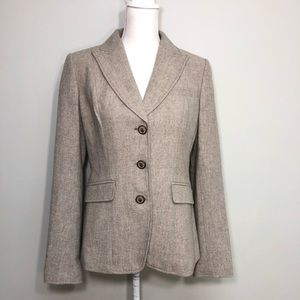 Banana Republic Wool Cashmere Blend Cream Blazer